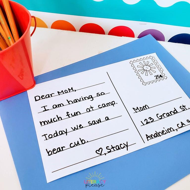 Google Postcard Writing Center Idea