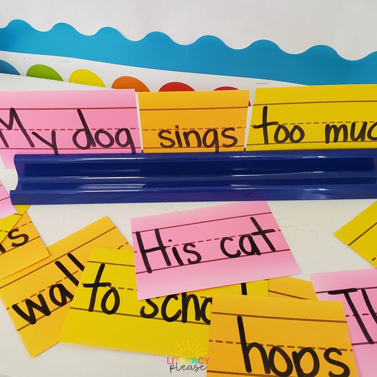 Google Sentence Building Writing Center Idea