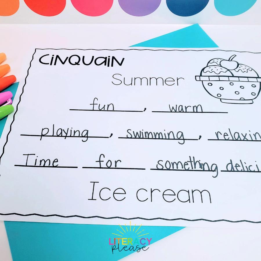 Google Cinquain Poems for First Grade