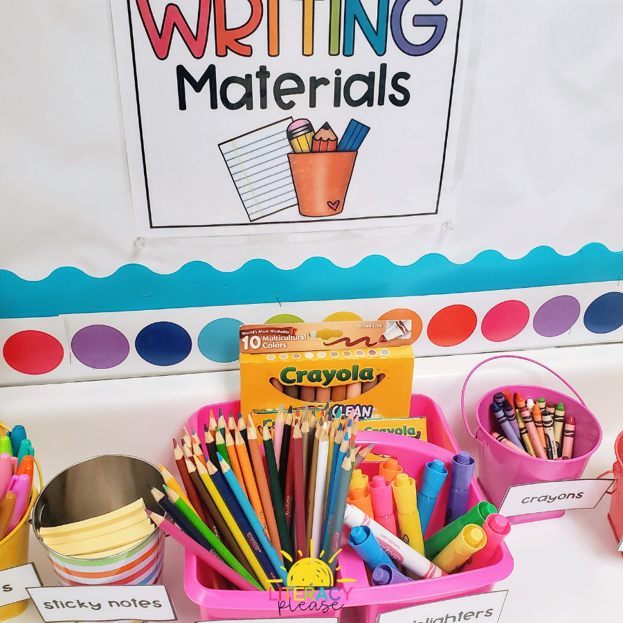 Google Writing Materials Classroom Organization